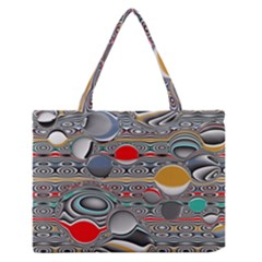Changing Forms Abstract Medium Zipper Tote Bag