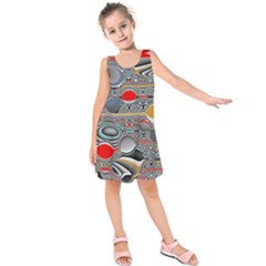 Changing Forms Abstract Kids  Sleeveless Dress