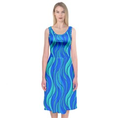 Pattern Midi Sleeveless Dress