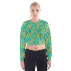 Pattern Cropped Sweatshirt