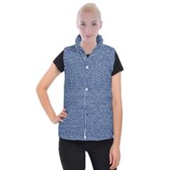 Intricate Geometric Print Women s Button Up Puffer Vest
