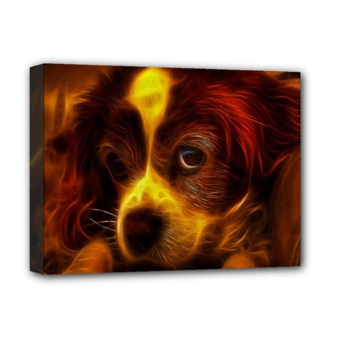 Cute 3d Dog Deluxe Canvas 16  x 12