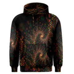 Multicolor Fractals Digital Art Design Men s Pullover Hoodie