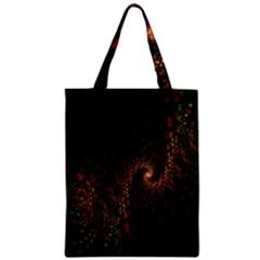 Multicolor Fractals Digital Art Design Zipper Classic Tote Bag