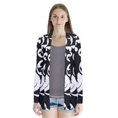 Vector Classical  Traditional Black And White Floral Patterns Cardigans