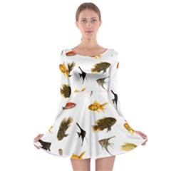 Goldfish Long Sleeve Skater Dress