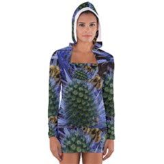 Chihuly Garden Bumble Women s Long Sleeve Hooded T-shirt