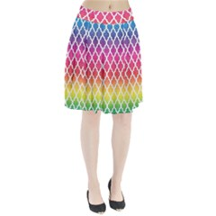 Colorful Rainbow Moroccan Pattern Pleated Skirt