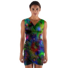 Full Colors Wrap Front Bodycon Dress