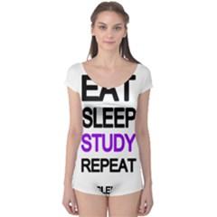 Eat sleep study repeat Boyleg Leotard