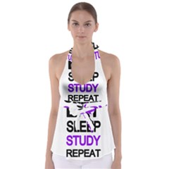 Eat sleep study repeat Babydoll Tankini Top