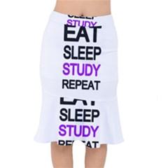 Eat sleep study repeat Mermaid Skirt