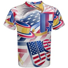 United States Of America Usa Images Independence Day Men s Cotton Tee