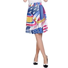 United States Of America Usa Images Independence Day A-Line Skirt