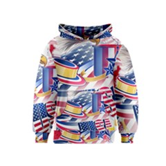 United States Of America Usa Images Independence Day Kids  Pullover Hoodie