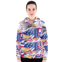 United States Of America Usa Images Independence Day Women s Zipper Hoodie