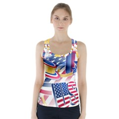 United States Of America Usa Images Independence Day Racer Back Sports Top