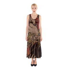 Chinese Dragon Sleeveless Maxi Dress