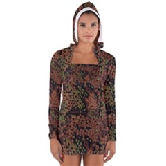 Digital Camouflage Women s Long Sleeve Hooded T-shirt