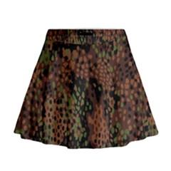 Digital Camouflage Mini Flare Skirt