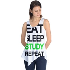 Eat sleep study repeat Sleeveless Tunic