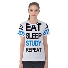 Eat sleep study repeat Women s Cotton Tee