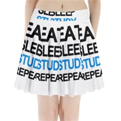 Eat sleep study repeat Pleated Mini Skirt