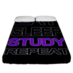 Eat Sleep Study Repeat Fitted Sheet (king Size)