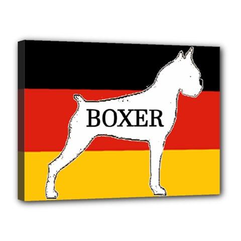 Boxer Name Silo On Flag White Canvas 16  x 12