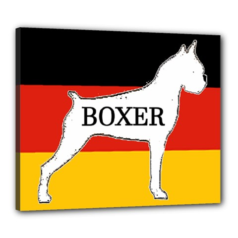 Boxer Name Silo On Flag White Canvas 24  x 20