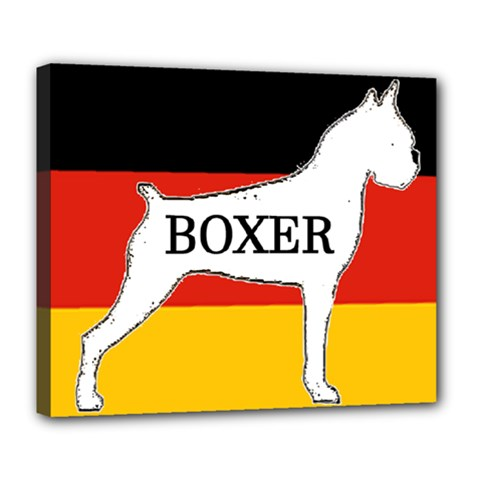 Boxer Name Silo On Flag White Deluxe Canvas 24  x 20
