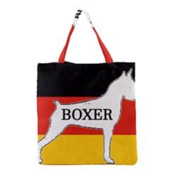 Boxer Name Silo On Flag White Grocery Tote Bag