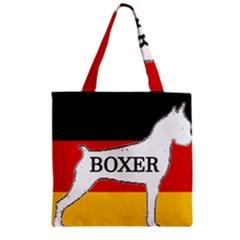 Boxer Name Silo On Flag White Zipper Grocery Tote Bag