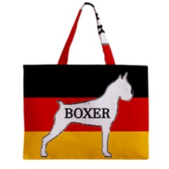 Boxer Name Silo On Flag White Zipper Mini Tote Bag