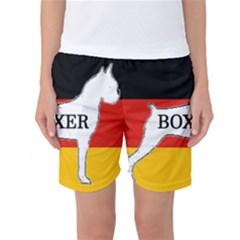 Boxer Name Silo On Flag White Women s Basketball Shorts