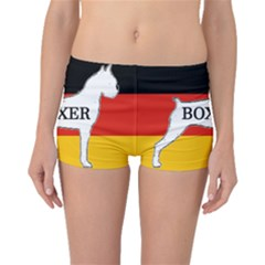 Boxer Name Silo On Flag White Boyleg Bikini Bottoms