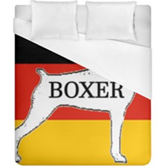 Boxer Name Silo On Flag White Duvet Cover (California King Size)