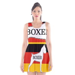 Boxer Name Silo On Flag White Scoop Neck Skater Dress
