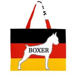 Boxer Name Silo On Flag White Large Tote Bag