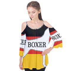 Boxer Name Silo On Flag White Flutter Tees