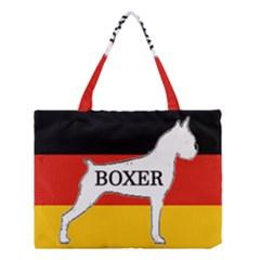 Boxer Name Silo On Flag White Medium Tote Bag
