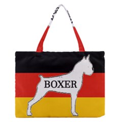 Boxer Name Silo On Flag White Medium Zipper Tote Bag