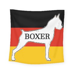 Boxer Name Silo On Flag White Square Tapestry (Small)