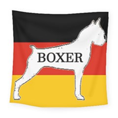 Boxer Name Silo On Flag White Square Tapestry (Large)