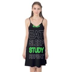 Eat sleep study repeat Camis Nightgown