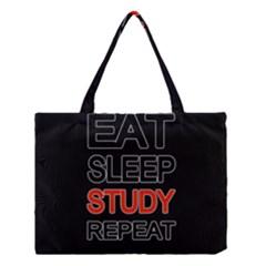 Eat sleep study repeat Medium Tote Bag