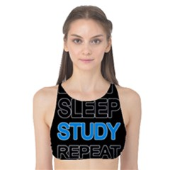 Eat sleep study repeat Tank Bikini Top