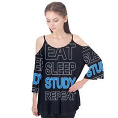 Eat sleep study repeat Flutter Tees
