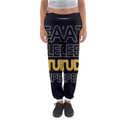 Eat sleep study repeat Women s Jogger Sweatpants