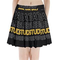 Eat sleep study repeat Pleated Mini Skirt